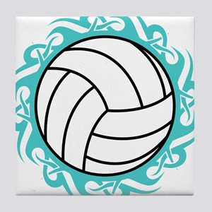 tribal volleyball Tile Coaster