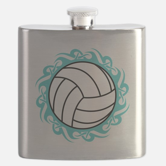 tribal volleyball Flask