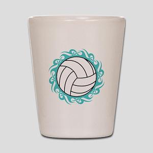 tribal volleyball Shot Glass