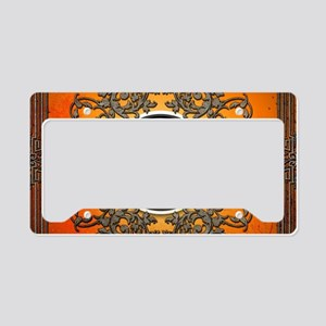 Ying and yang License Plate Holder
