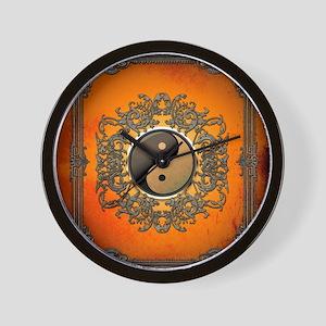 Ying and yang Wall Clock