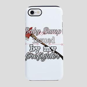 Firefighter baby bump iPhone 8/7 Tough Case
