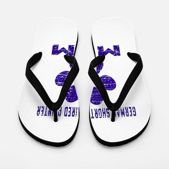 German Shorthaired Pointer mom designs Flip Flops
