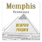 "Memphis Square Car Magnet 3"" x 3"""