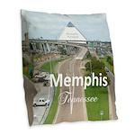 Memphis Burlap Throw Pillow