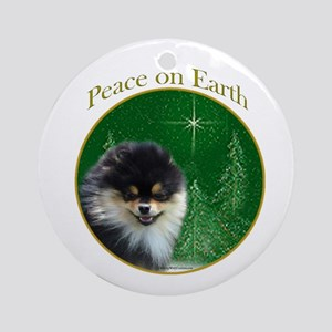 Pomeranian Peace Ornament (Round)