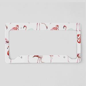 Flamingo Birds License Plate Holder