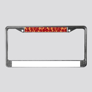 pizzas License Plate Frame