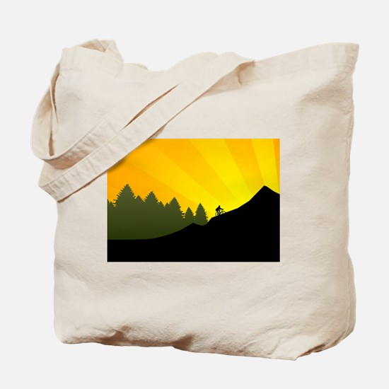mountain trail biking Tote Bag