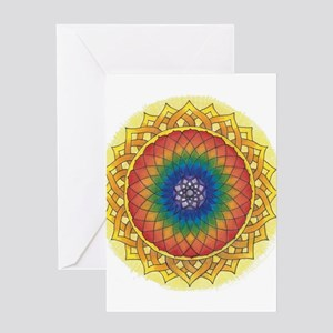 Sunflower Crown Mandala Greeting Cards
