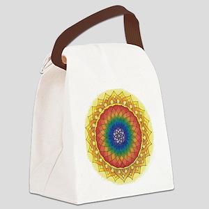 Sunflower Crown Mandala Canvas Lunch Bag