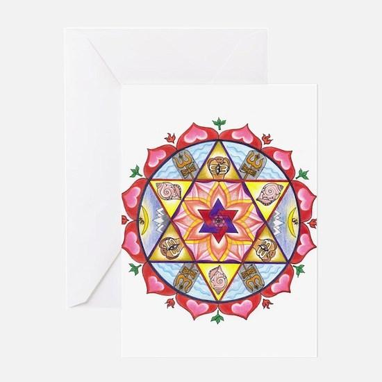 Shiva Shakti Mandala Greeting Cards