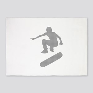skateboarder chex 5'x7'Area Rug