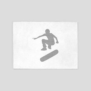 skateboarder chex 5'x7'Area Rug