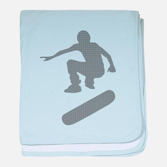 skateboarder chex baby blanket