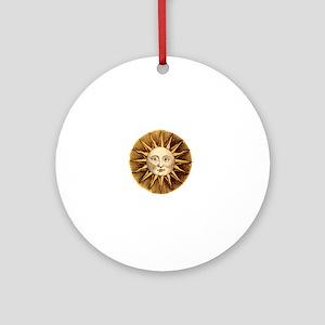 Sun Face Round Ornament