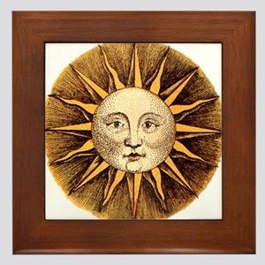 Sun Face Framed Tile