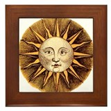 Sun face Framed Tiles