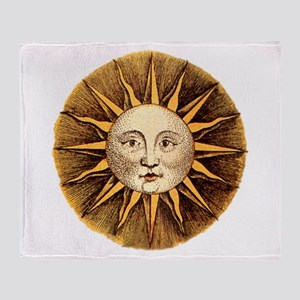 Sun Face Throw Blanket