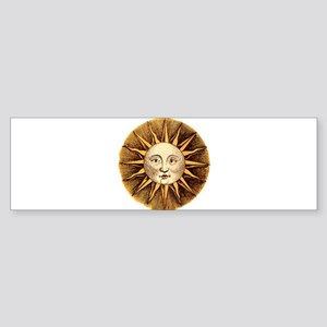 Sun Face Bumper Sticker