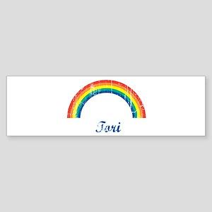Tori vintage rainbow Bumper Sticker