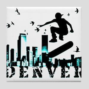 denver skateboarding Tile Coaster