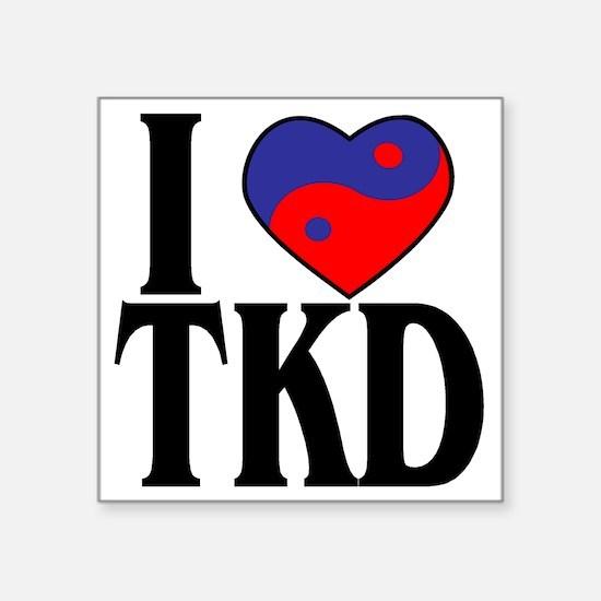 I heart TKD 4x4 Sticker