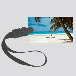 I Love Naples, Florida Large Luggage Tag
