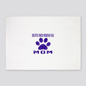 Greater Swiss Mountain Dog mom desi 5'x7'Area Rug