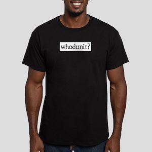 whodunit Men's Fitted T-Shirt (dark)