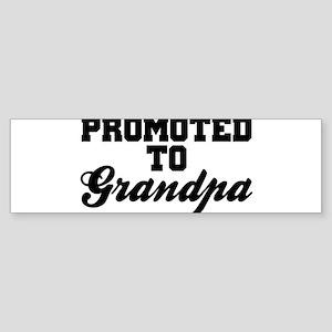 Promoted To Grandpa Bumper Sticker