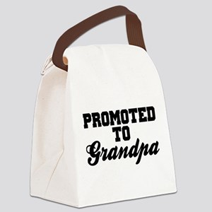 Promoted To Grandpa Canvas Lunch Bag