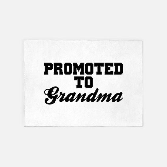 Promoted To Grandma 5'x7'Area Rug