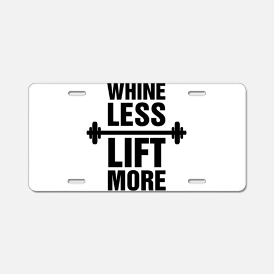 Whine Less Lift More Workout Tank Aluminum License