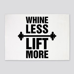Whine Less Lift More Workout Tank 5'x7'Area Rug