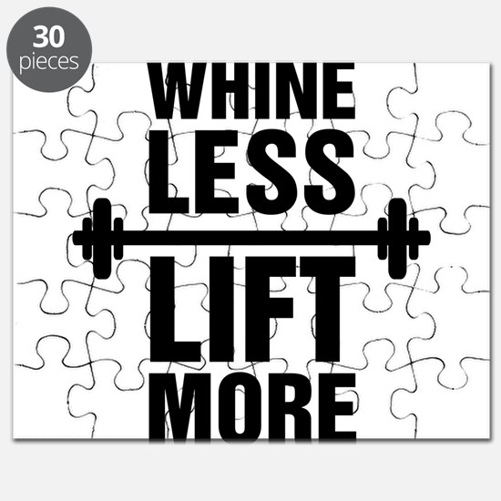 Whine Less Lift More Workout Tank Puzzle