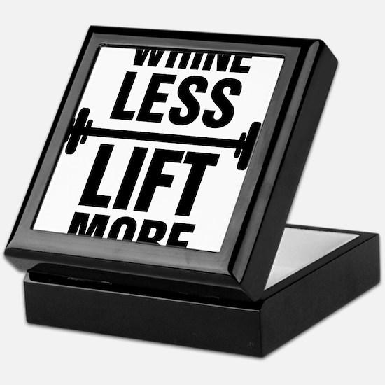 Whine Less Lift More Workout Tank Keepsake Box