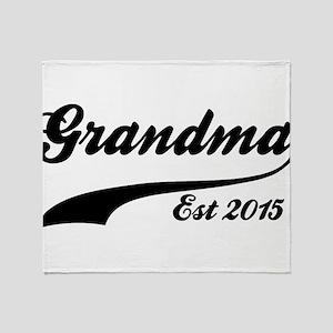 Grandma Est 2015 Throw Blanket
