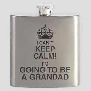 I Can't Keep Calm I'm Gona be A Grandad Flask