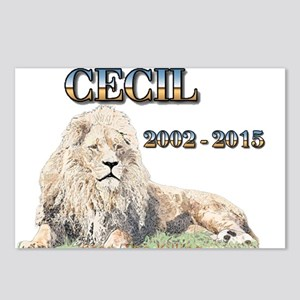 Cecil The Lion Postcards (Package of 8)