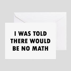 I No Math Greeting Card