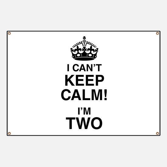 I Can't Keep Calm I'm Two Banner
