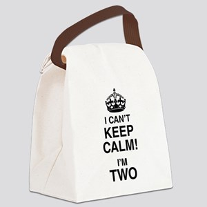 I Can't Keep Calm I'm Two Canvas Lunch Bag