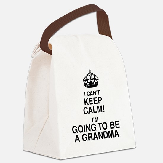 i cant keep calm im going to be a grandma Canvas L