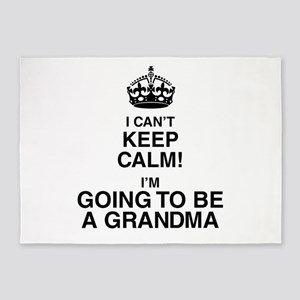i cant keep calm im going to be a grandma 5'x7'Are
