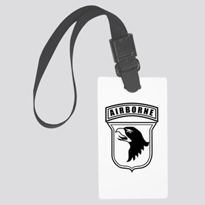 101st Airborne stencil Large Luggage Tag