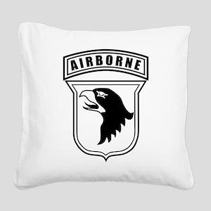 101st Airborne stencil Square Canvas Pillow