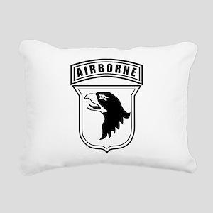101st Airborne stencil Rectangular Canvas Pillow