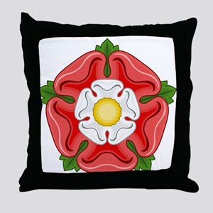 Tudor Rose Throw Pillow