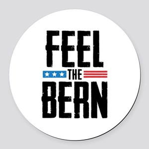 Feel The Bern Round Car Magnet